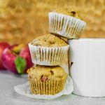 Korzenne muffinki z jabłkami i mąką orkiszową