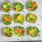 Muffinki jajeczne z szynką i serem cheddar
