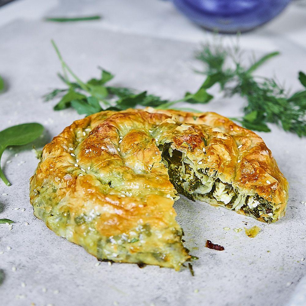Grecki zawijaniec ze szpinakiem i serem feta