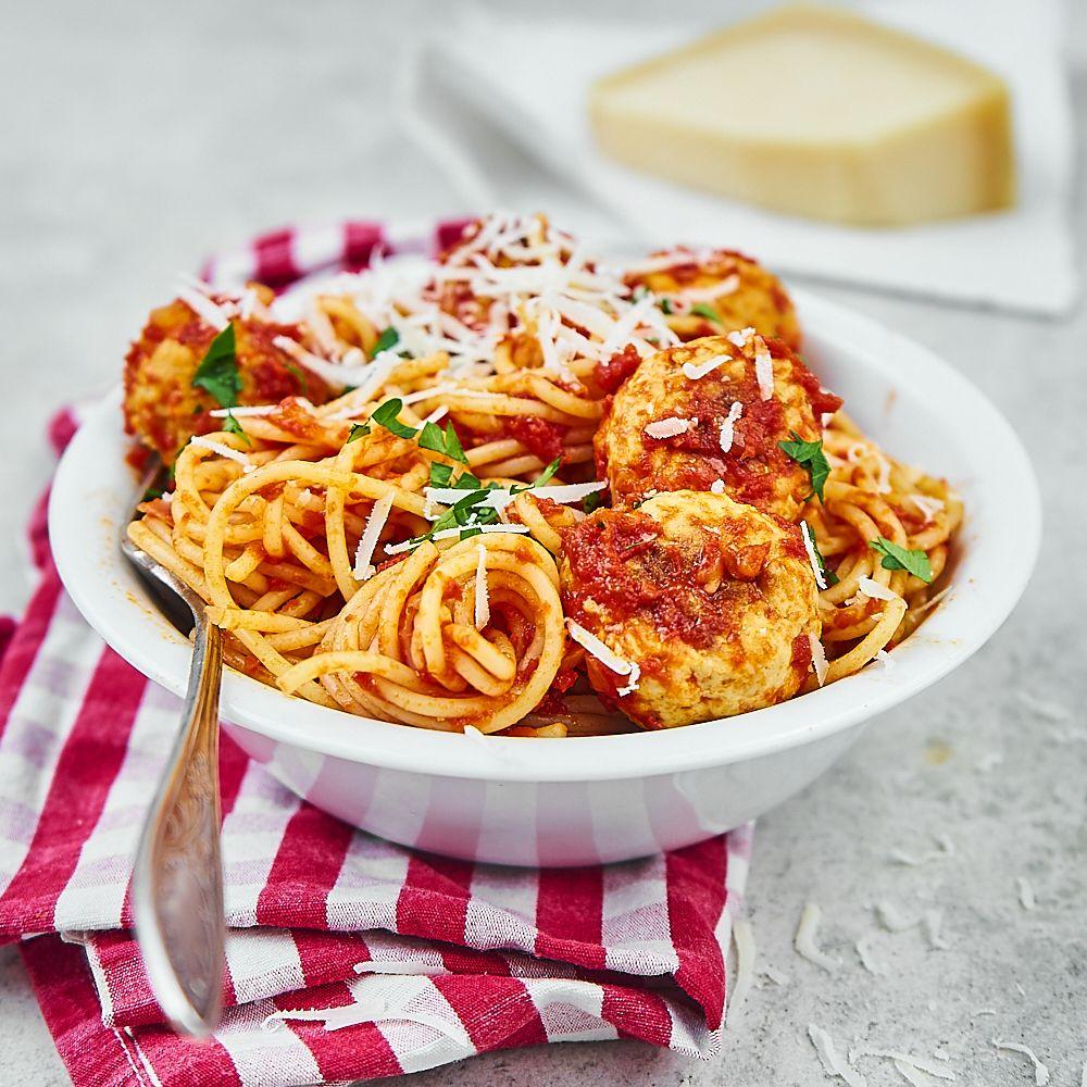 Spaghetti z klopsikami z indyka