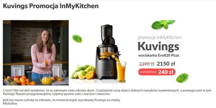Kuvings Promocja InMyKitchen