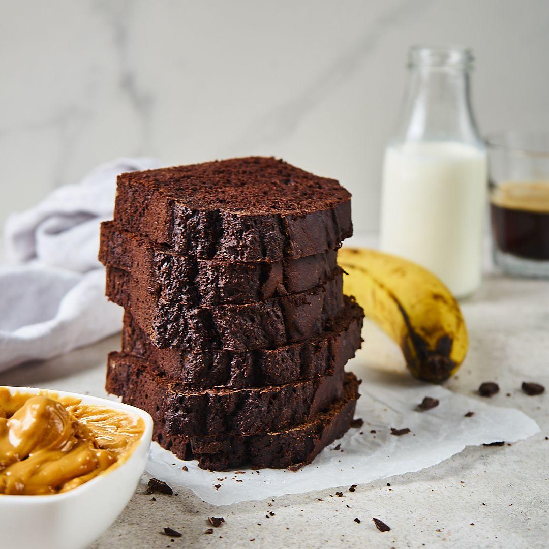 Zdrowe czekoladowe ciasto bananowe