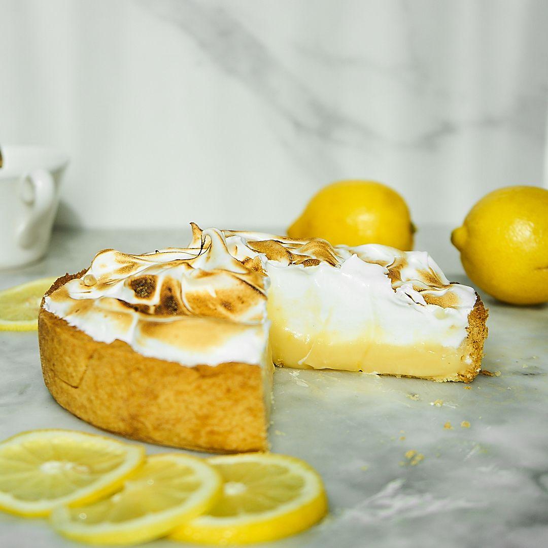 Tarta cytrynowa z bezą włoską