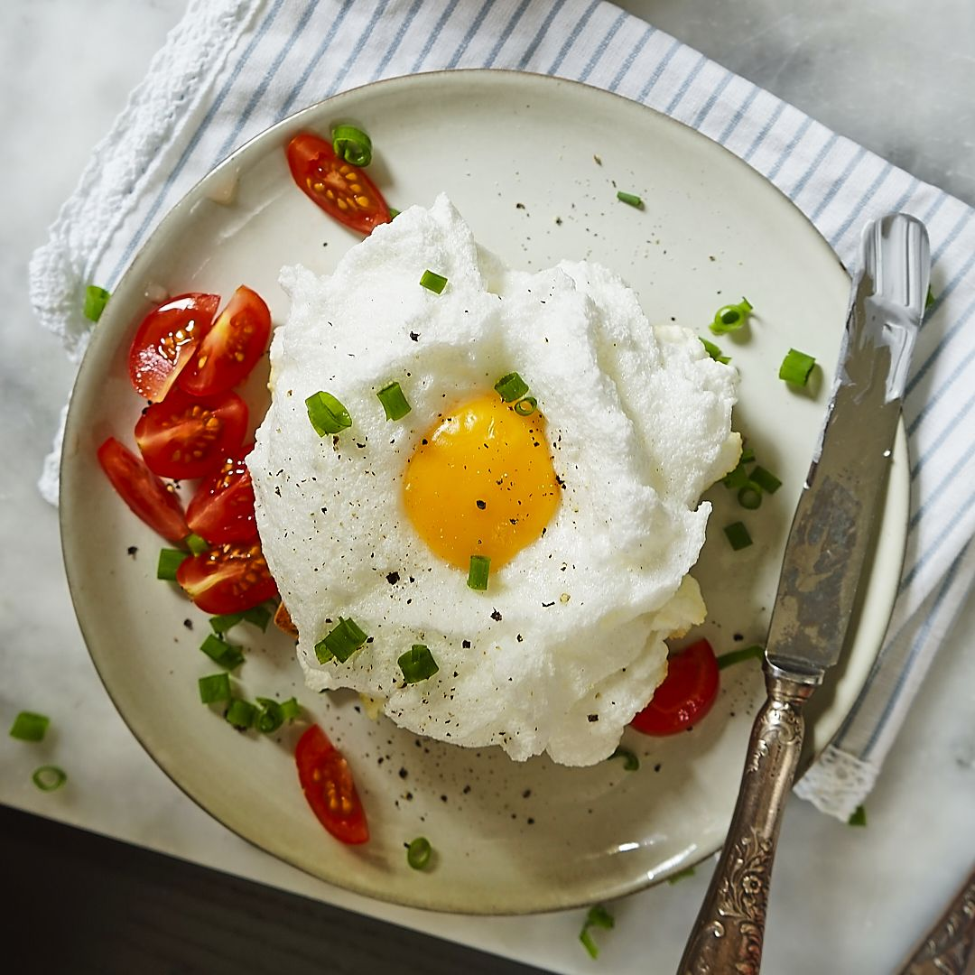 Jajko na chmurce z patelni